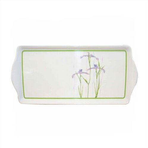 Impressions Shadow Iris Melamine Rectangular Serving Platter by Corelle