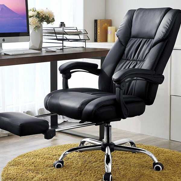 Etchison High Back Swivel Ergonomic Executive Chair by Rebrilliant
