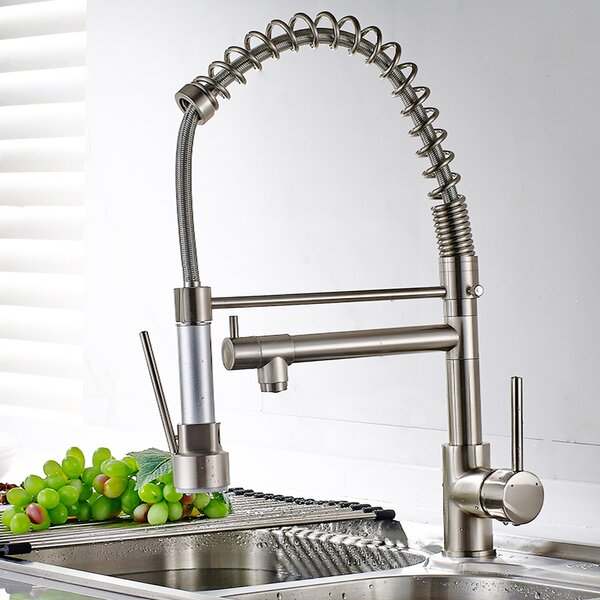 Brass Pull Down Touch Single Handle Kitchen Faucet by KANGJU KANGJU