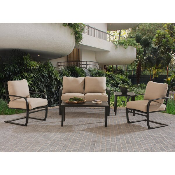 Beatley 5 Piece Deep Seating Group with Cushions (Set of 5) by Ivy Bronx