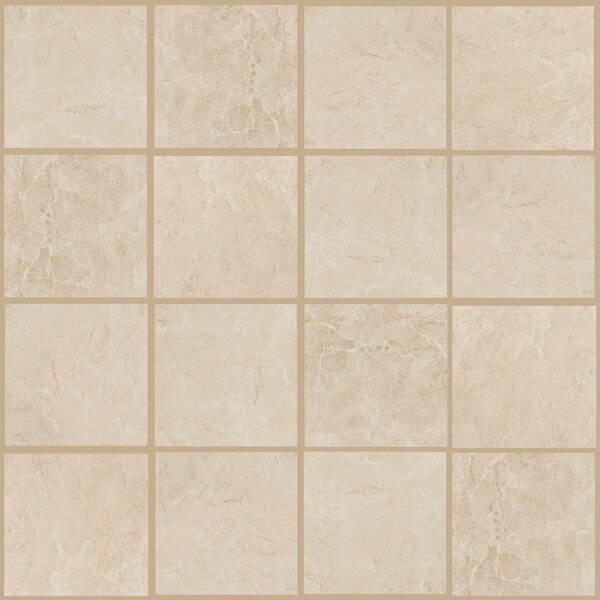 Bradwell 12 x 12 Porcelain Field Tile in Crema Marfil by Mohawk Flooring