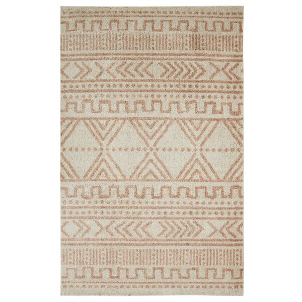 Brokaw Ivory/Blush Area Rug by Foundry Select