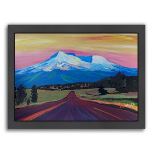 Mystical Mt Shasta White Mountain in Cascades Range California Framed Painting Print by East Urban Home