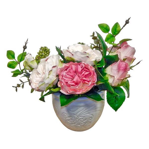 Peony Rose Centerpiece in Vase by Ophelia & Co.