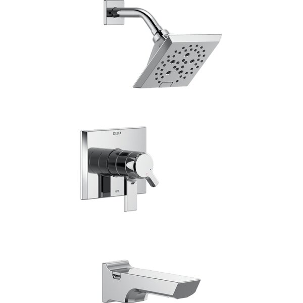 Pivotal 17 Series Tub and Shower Faucet Trim with Lever Handles and H2okinetic Technology by Delta
