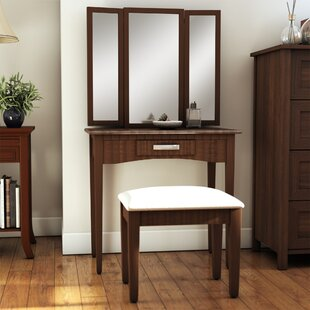 Longfellow Vanity Set with Mirror by Andover Mills