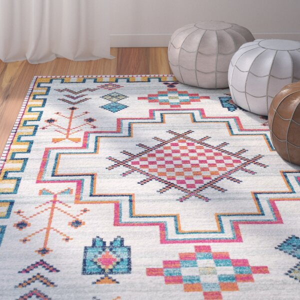 Celestine Silver Area Rug by Bungalow Rose