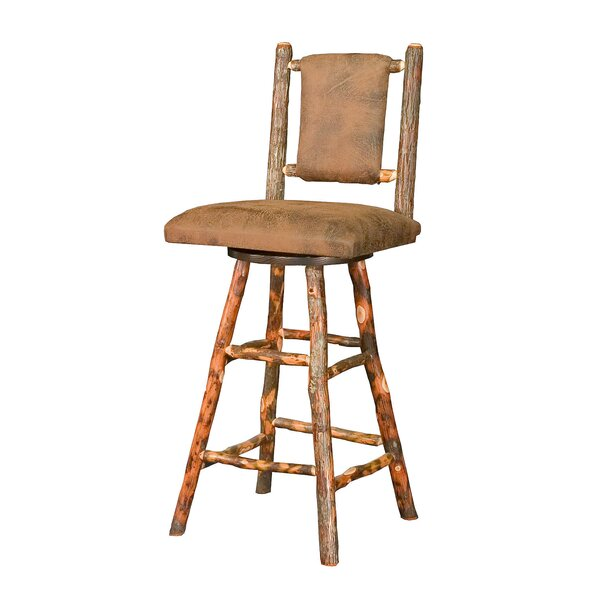 Quintal 30 Swivel Bar Stool by Loon Peak