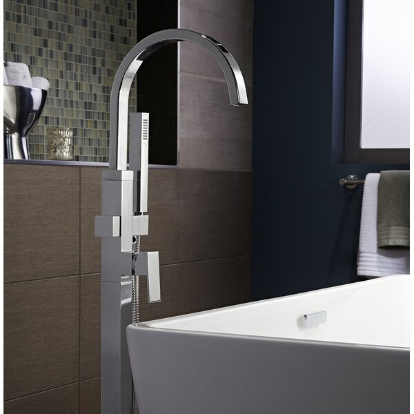 Times Square Single Handle Floor Mounted Bath Fauc