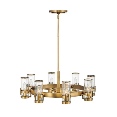 Hinkley Orson 1 Light Single Tier Chandelier in Satin Black