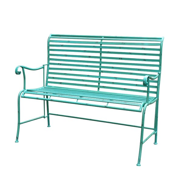 Cheriton Distressed Iron Garden Bench by August Grove