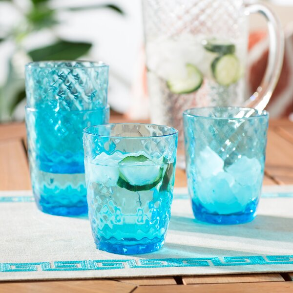 Marshtown 12 Piece Acrylic Every Day Glasses Set by Beachcrest Home