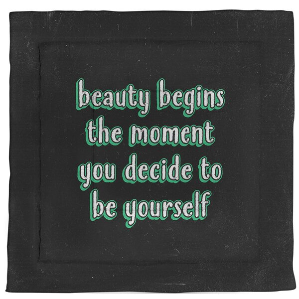 True Beauty Quote Single Reversible Comforter