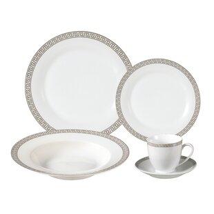 Natalia Porcelain 24 Piece Dinnerware Set Service for 4  sc 1 st  Birch Lane & Geometric Dinnerware Sets u0026 Place Settings | Birch Lane
