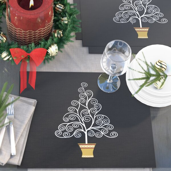 Filigree Tree Placemat (Set of 4) by The Holiday Aisle