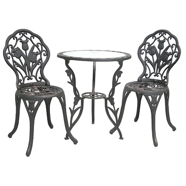 Tulip 3 Piece Bistro Set by Innova Hearth and Home