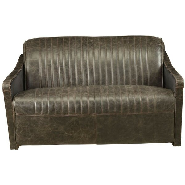 Spenser Leather Loveseat By 17 Stories