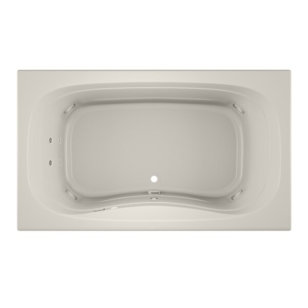 Signa Right-Hand Heater and Chroma 72 L x 42 W Drop In Whirlpool Bathtub by Jacuzzi®