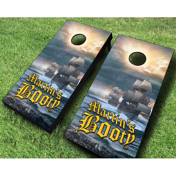 Personalized Pirate Ship Cornhole Set by AJJ Cornhole