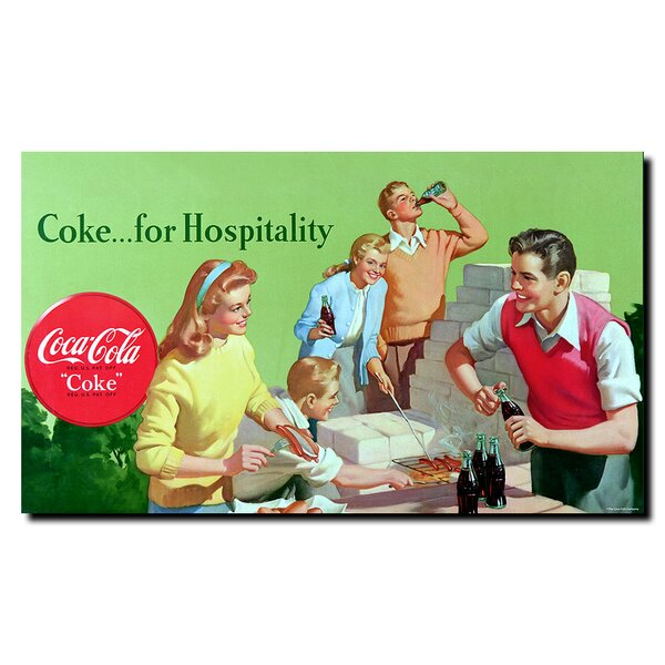 Coke for Hospitality Vintage Advertisement on Wrapped Canvas by Trademark Fine Art