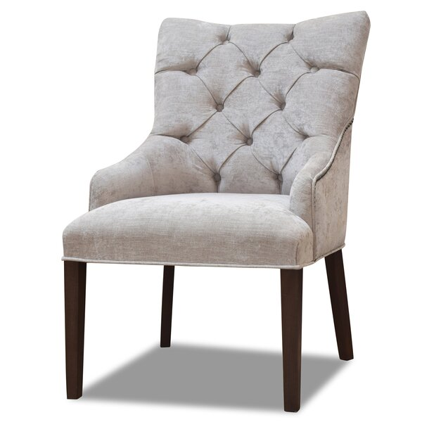 Essie Upholstered Solid Wood Parsons Chair in Oatmeal by Winston Porter Winston Porter