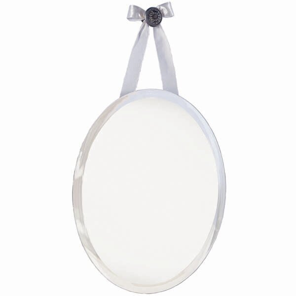 mirage oval knob wall mirror with ribbon - Erias Home Designs