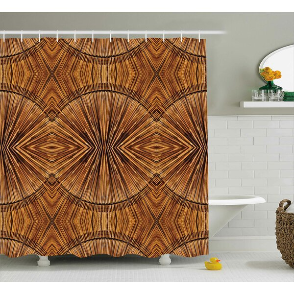 Archway Eastern Bamboo Pattern Shower Curtain by Bloomsbury Market