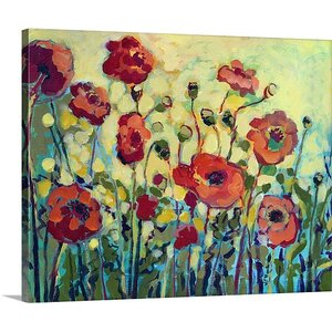 'Anitas Poppies' Painting Print on Gallery Wrapped Canvas by Andover Mills