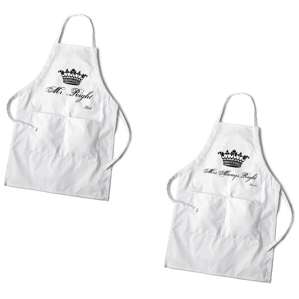 2 Piece Cotton Personalized Couples Apron Set by JDS Personalized Gifts