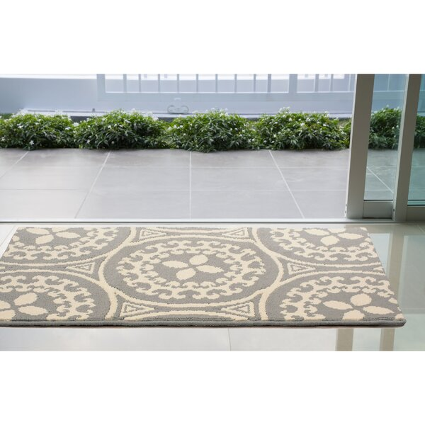 Raines Ivory/Gray Area Rug by Charlton Home