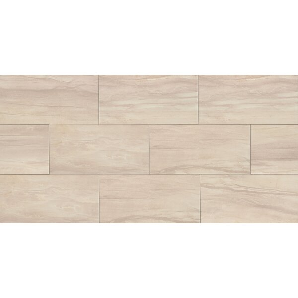 Athena 12 x 24 Porcelain Wood Look/Field Tile in Sand by Bedrosians