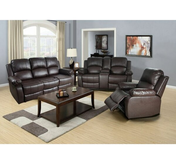 Lucius Reclining 3 Piece Living Room Set by Beverly Fine Furniture