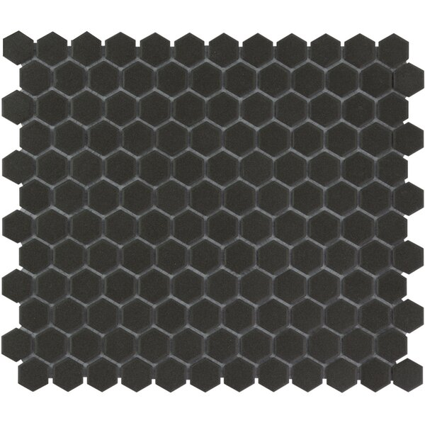 London 1 x 1 Porcelain Mosaic Tile in Dark Gray by The Mosaic Factory