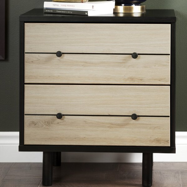 Bookout 2 Drawer Nightstand by Langley Street