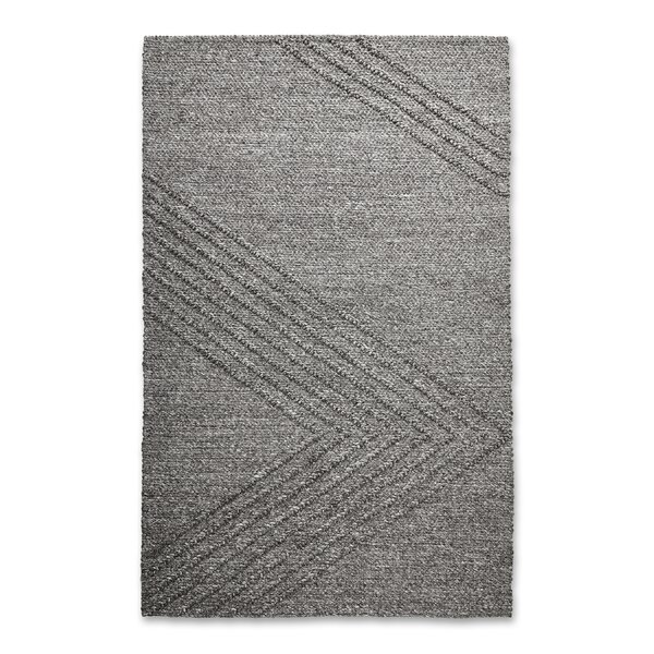 Avro Hand Woven Wool Charcoal Area Rug by Gus* Modern