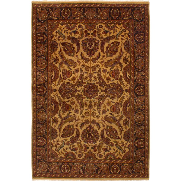 One-of-a-Kind Donley Hand-Knotted Wool Ivory/Red Area Rug by Isabelline