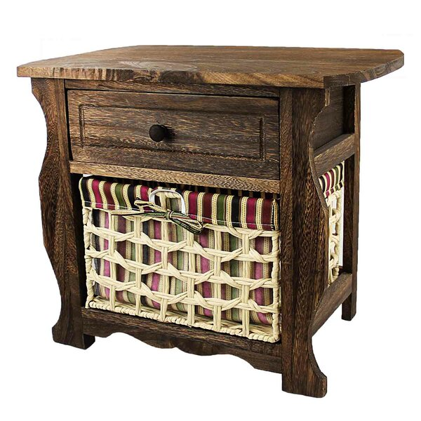 Steinberg Classic Countryside Wood Storage 1 Drawer Nightstand by Millwood Pines