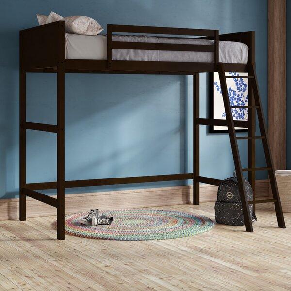 Alicea Twin Loft Bed Espresso by Harriet Bee