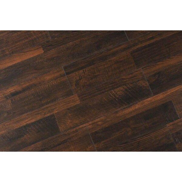 Steve 7.6 x 48 x 12mm Oak Laminate Flooring in Rustic Dark Toast by Serradon