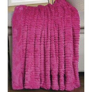 Donald Faux Fur Throw Blanket