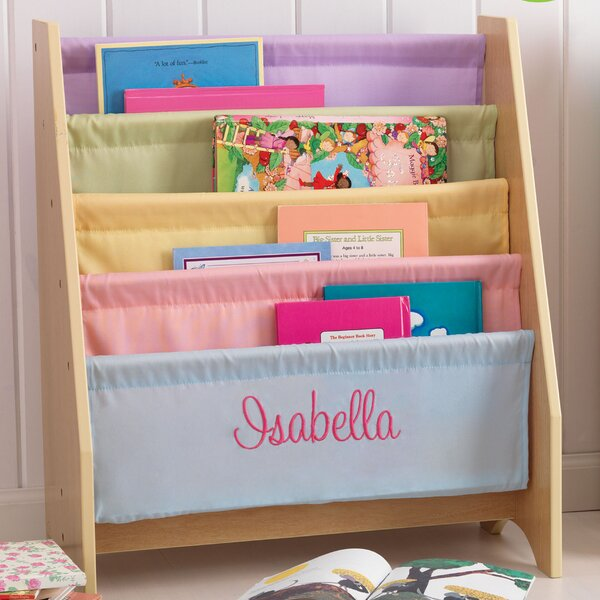 Personalized Pastel Sling 4 Compartment Book Displ