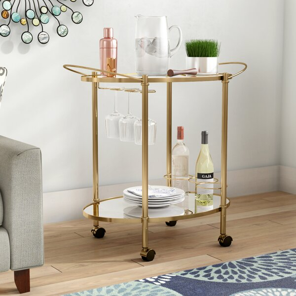 Hopley Bar Cart by Orren Ellis Orren Ellis