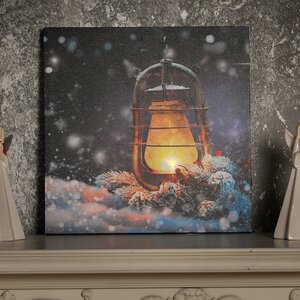 'Lantern' Acrylic Painting Print on Canvas with LED Lights by The Holiday Aisle