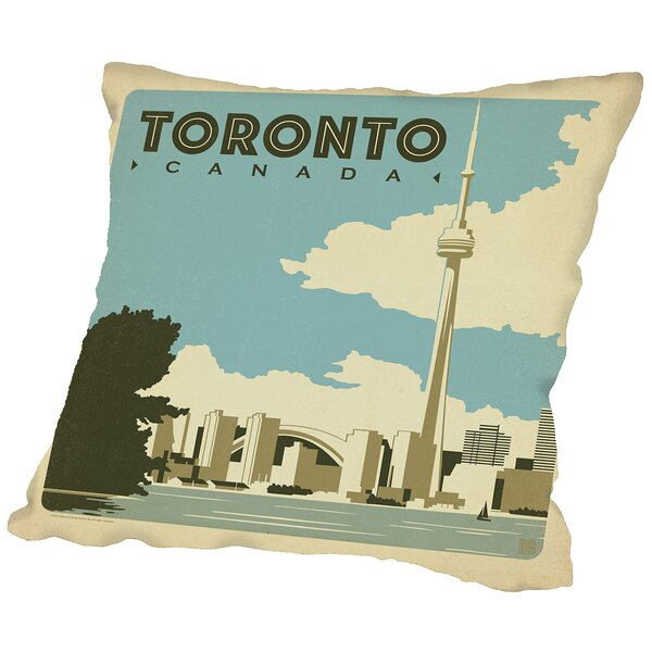Toronto Throw Pillow by East Urban Home