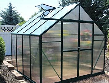 Ascent Heavy-Duty Aluminum 8 Ft. W x 8 Ft. D Greenhouse by Grandio Greenhouses