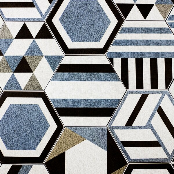 Fabrica Hexagon 8 x 8 Ceramic Field Tile in Blue by Abolos
