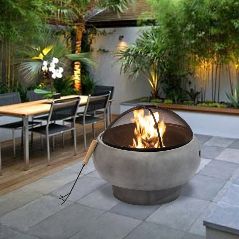 Sol 72 Outdoor Outdoor 21 Quot Round Concrete Wood Burning