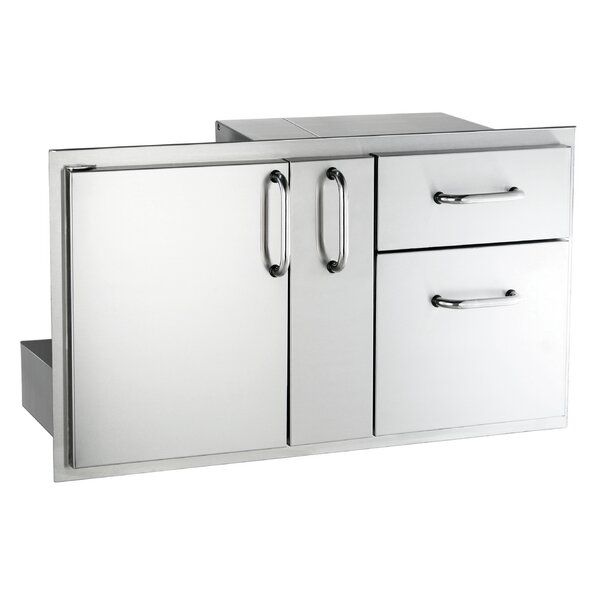 Storage Door with Double Cabinet and Platter Storage by American Outdoor Grill
