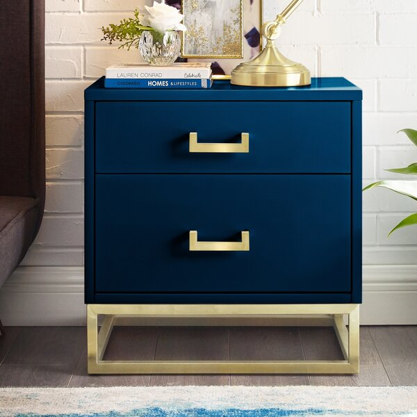 Raees 2 Drawer Nightstand by Nicole Miller