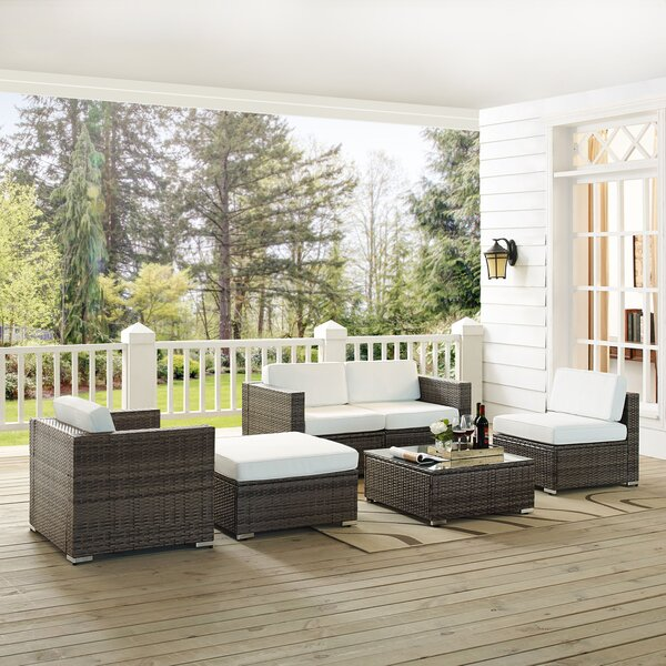 Carmelo 6 Piece Rattan Sofa Seating Group With Cushions By Sol 72 Outdoor